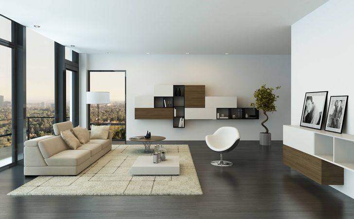 - Wohnzimmer minimalistisch ...