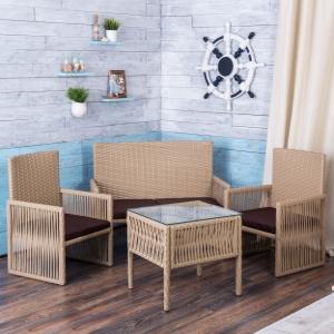 籐の家具を取り入れたビーチスタイルインテリア