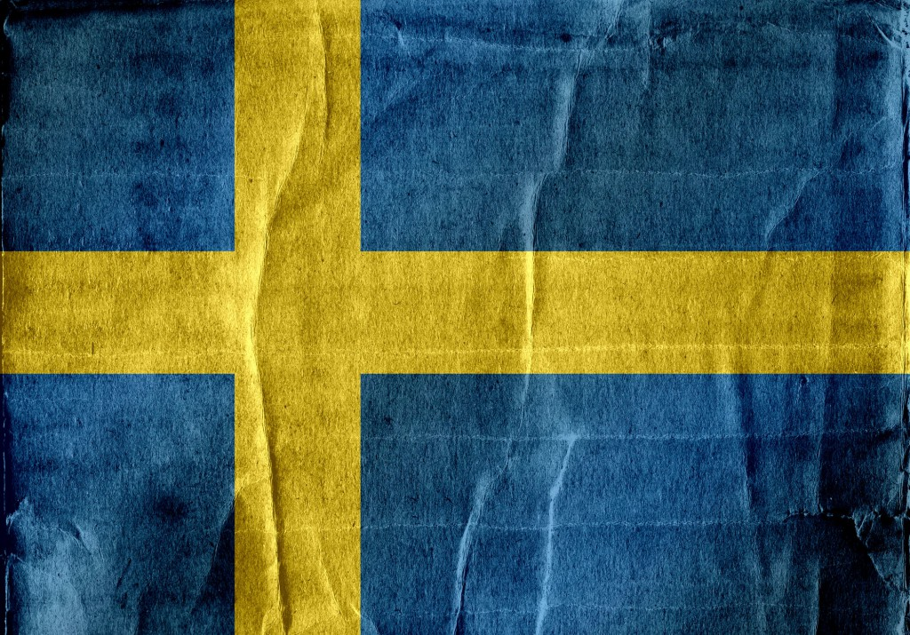 Sweden Flag themes idea design in illustration